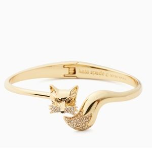 """Kate Spade """"so foxy"""" open hinge bracelet"""